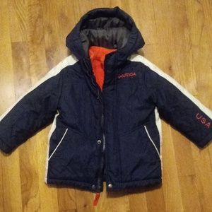 Nautica 3T winter coat jacket 2 in 1 vest navy ora